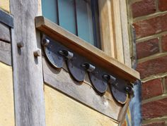 Stubblefield - sublime detail throughout the interior and exterior. Oak Framed Buildings, Centre Pieces, Interior And Exterior, Beams, Architecture Design, Kitchen Design, Detail, Home, Centerpieces