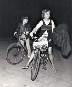Steven Paul and Susannah York ride bikes. Cannes Awards, Susannah York, John Huston, Kate Jackson, Liza Minnelli, Dramatic Arts, Falling In Love Again, Bike Path, Bicycles