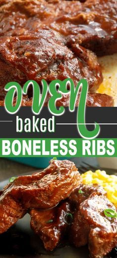 Beef Ribs In Oven, Oven Baked Pork Ribs, Ribs Recipe Oven, Bbq Pork Ribs, Boneless Beef Ribs Recipe, Baking Ribs In Oven, Pork Spare Ribs, Baked Country Style Ribs, Gourmet