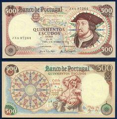PORTUGAL 500 Escudos 1979 P170b UNC