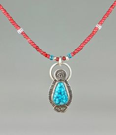 Kingman Turquoise and African Trade Bead East Meets West Necklace Kingman Turquoise, Turquoise Necklace, Artisan Jewelry, Handmade Jewelry, African Trade Beads, Metal Jewelry, Precious Metals, Emerald, Teal