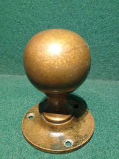 Antique Victorian Reclaimed Brass Round Circular Door Knob - 8cm x ...