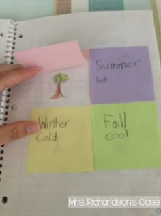 Interactive Science Notebooks for 1st Grade- Seasons