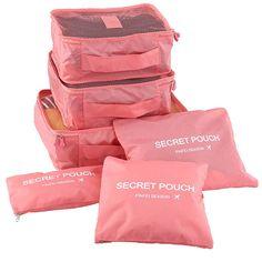 Novo 6 pçs/set Mulheres Homens Bolsa de Viagem À Prova D' Água Roupas Tidy Classificação Bolsa de Alta Capacidade de Bagagem Portátil Duffle Bag Organizador Caixa