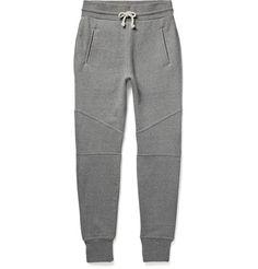 Slim-Fit Tapered Loopback Cotton-Jersey Sweatpants | MR PORTER
