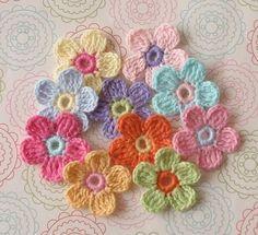 Crochet flowers  /inspiration, not a good link