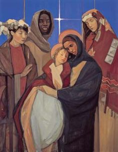 WISE WOMEN ALSO CAME Today, Christians around the world celebrate the feast of the Epiphany, the day we remember the story of the magi's 'pilgrimage' to Bethlehem, in search of the newborn babe, Jesus. Here's a poem by Jan Richardson I prayed with. Religious Christmas Cards, Christmas Banners, Madonna And Child, A Christmas Story, Christmas Nativity, Christmas Images, Sacred Art, Epiphany, Religious Art