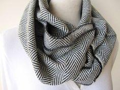 Grey black herringbone cashmere infinity scarfsuper by Cashmere Fabric, Tweed Fabric, Loop Scarf, Womens Scarves, Herringbone, Winter Fashion, Womens Fashion, Infinity, Winter Season