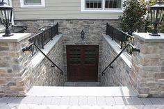 ideas for basement entrance Basement Steps, Basement Entrance, Basement Windows, Basement House, Basement Apartment, Basement Plans, Basement Renovations, Walkout Basement Patio, Basement Stairway