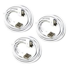 Bluecell 3 PCS White 6FT USB Data Sync Cable for Apple iPhone 4 4S 3GS iPod iPad + Free Bluecell Cable Tie (Wireless Phone Accessory)  http://flavoredwaterrecipes.com/amazonimage.php?p=B00741E9XC  B00741E9XC