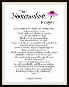 The homemakers prayer