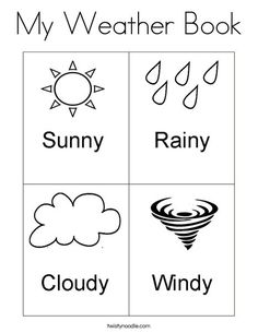 My Weather Book Coloring Page from TwistyNoodle.com
