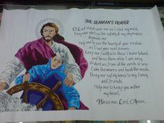 "Cross Stitch title: The Seaman's Prayer 10 cts; white Aida cloth 18"" x 27 1/2""  #CrossStitch #Craft #forsale"