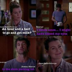 Greys Anatomy Funny, Grey Anatomy Quotes, Grey's Anatomy, Meredith And Derek, Grey Quotes, Medical Drama, Youre My Person, Laughing And Crying, Tv Show Quotes
