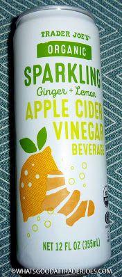 What's Good at Trader Joe's?: Trader Joe's Organic Sparkling Ginger + Lemon Apple Cider Vinegar Beverage Braggs Apple Cider Vinegar, Drinking Vinegar, Homeopathic Medicine, Trader Joe's, Band Aid, Apple Juice, Glass Bottles, Beverages, Lemon