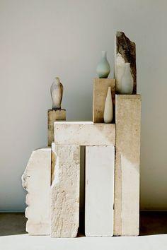 """Set in Stone"", (Raw plinths/tables), pinned by Ton van der Veer Bedroom Minimalist, Art Object, Ceramic Art, Decoration, Sculpture Art, Still Life, Stoneware, Design Inspiration, Morning Inspiration"