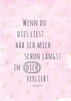 Verliebt Love Lettering Card Quote Art Word Art Statements Zitate Spruche Karten