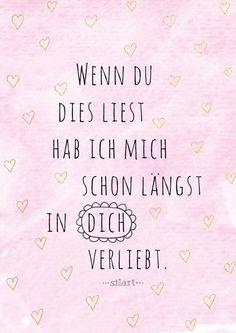 Verliebt, Love Lettering Card, Quote Art, Word Art, Statements, Zitate, Sprüche, Karten