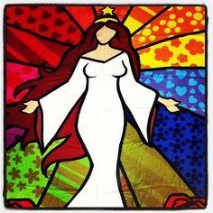 Yemanja: Brazilian Goddess of the sea.