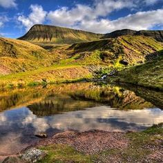 *Llyn y Fan Fach, Black Mountain, Brecon Beacons National Park, Wales Wales Uk, South Wales, Beauty Around The World, Around The Worlds, British Travel, Visit Wales, Brecon Beacons, Snowdonia, Places Of Interest