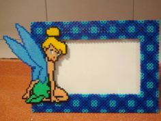 Tinker Bell photo frame hama beads (10X15) hama beads (midi and mini) by Andres Moreno Rodriguez