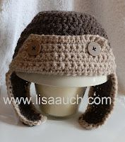 Crochet Baby Hat Pattern Aviator Hat. Plus more free patterns on the site
