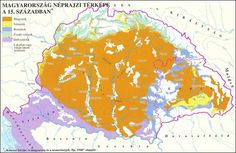 Etnical structure of Hungary (in the century) Old World Maps, Folk Music, Historical Maps, Science Projects, Eastern Europe, Family History, Languages, Germany, Education