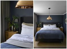 Color Inspiration For The Cabin Emily Henderson pertaining to dimensions 2500 X 1828 Blue Green Gray Bedroom - The bedroom is a vital applied the home Blue Green Bedrooms, Blue Gray Bedroom, Bedroom Colors, Room Decor Bedroom, Bedroom Ideas, Modern Home Interior Design, Deco Blue, Green Curtains, Minimalist Bedroom