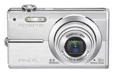 Olympus FE370 8MP Digital Camera with 5x Optical Dual Image Stabilized Zoom (Silver)