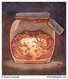 Bottled: Glow Toad by emla.deviantart.com on @deviantART