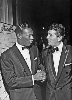 Nat King Cole & Dean Martin, master crooners!
