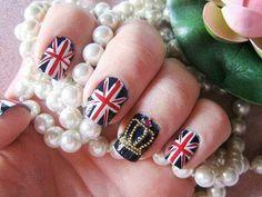 British London Theme Nail Art