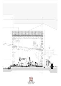 50 Ideas For Drawing Architecture Plan Presentation Plans Architecture, Architecture Graphics, Architecture Student, Architecture Drawings, Landscape Architecture, Architecture Design, Architecture Portfolio, Gothic Architecture, Section Drawing