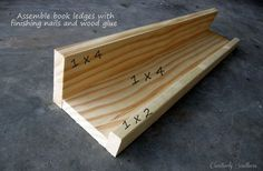 bookshelves for children s reading nook, storage ideas, Using a brad nailer or finishing nails attach two 1x4 s together and attach the 1x2 to the front to make the ledge