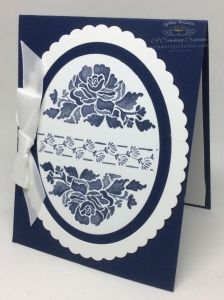 Cynthia McQueen, Independent Stampin' Up! Demonstrator. www.aCrowningCreation.com. Floral phrases stamp set, Layering Ovals framelits. Click thru to blog for info and more great projects.