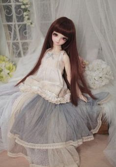 1 3 SD 1 4 MSD DOD BJD Dress Skirt Suit Outfit Lolita Doll Dollfie Luts Blue | eBay