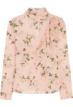 Net-a-Porter - Hortensia printed silk blouse