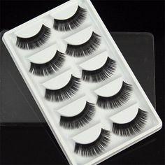 3e9d6b158ad US$5.99 - 5 Pairs False Eyelashes Fiber Thick Natural Long False Eyelashes  3D False Eyelashes