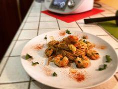 A dieta con il Bimby TM5 dimagrire con gusto - Pasta gamberetti e zucchine