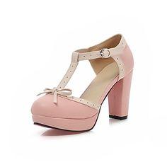 damesschoenen ronde neus dikke hak pompen schoenen meer kleuren beschikbaar – EUR € 25.45