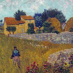 Vincent van Gogh, Farmhouse in Provence(detail).