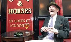 Peter O'Toole at the Coach and Horses pub in Soho at the time of his stage triumph in Jeffrey Bernard is Unwell