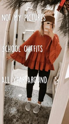 School Appropriate Outfits, Cute Outfits For School, Cute Simple Outfits, Cool Outfits, Casual Outfits, Teen Fashion Outfits, Diy Fashion, School Picture Outfits, Thick Girls Outfits
