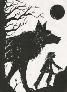 Greychild and the Wolf... | Flickr - Photo Sharing!