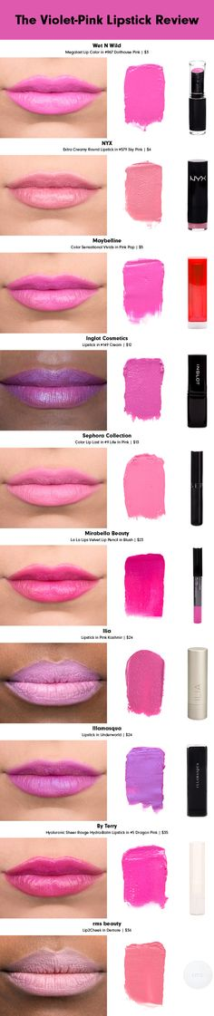 Pretty In Pink: The Violet-Pink Lipstick Review