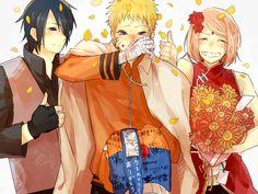 Tags: Fanart, NARUTO, Haruno Sakura, Uzumaki Naruto, Uchiha Sasuke, Pixiv, Team 7, Lovemaronmeru0827, Fanart From Pixiv