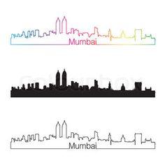 Image result for mumbai skyline graphic