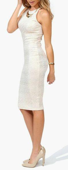 Ivory Taylor Pencil Dress ♥
