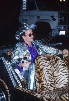 Bono in his Mirror Ball Man persona from U2's Zoo TV Tour 1991
