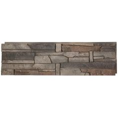 GenStone Stacked Stone Kenai 12 in. x 42 in. Faux Stone Siding Half Panel - The Home Depot Stone Siding Panels, Faux Stone Siding, Stone Veneer Panels, Faux Brick, Stacked Stone Panels, Faux Stone Panels, Home Depot, Faux Stone Veneer, Dry Stack Stone